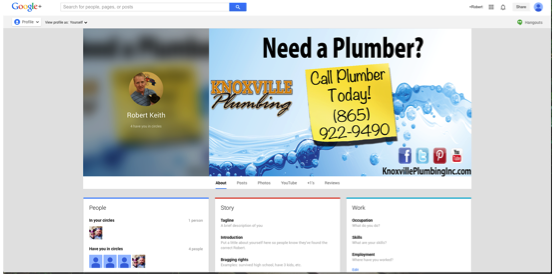 Google+ Authorship Plumbing Website